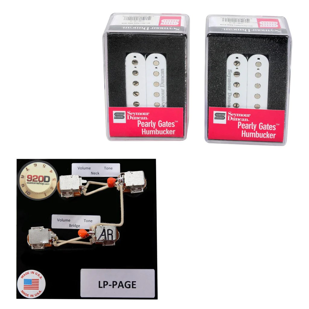 duncan pearly gates humbucker pickup set white page les paul wiring harness [ 1024 x 1024 Pixel ]