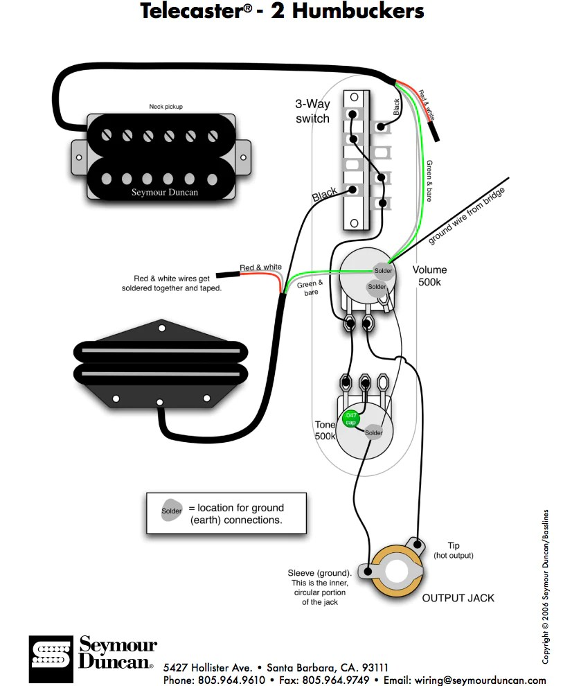 fender tele telecaster 3 way wiring harness 500k long shaft pots rear route  [ 813 x 990 Pixel ]