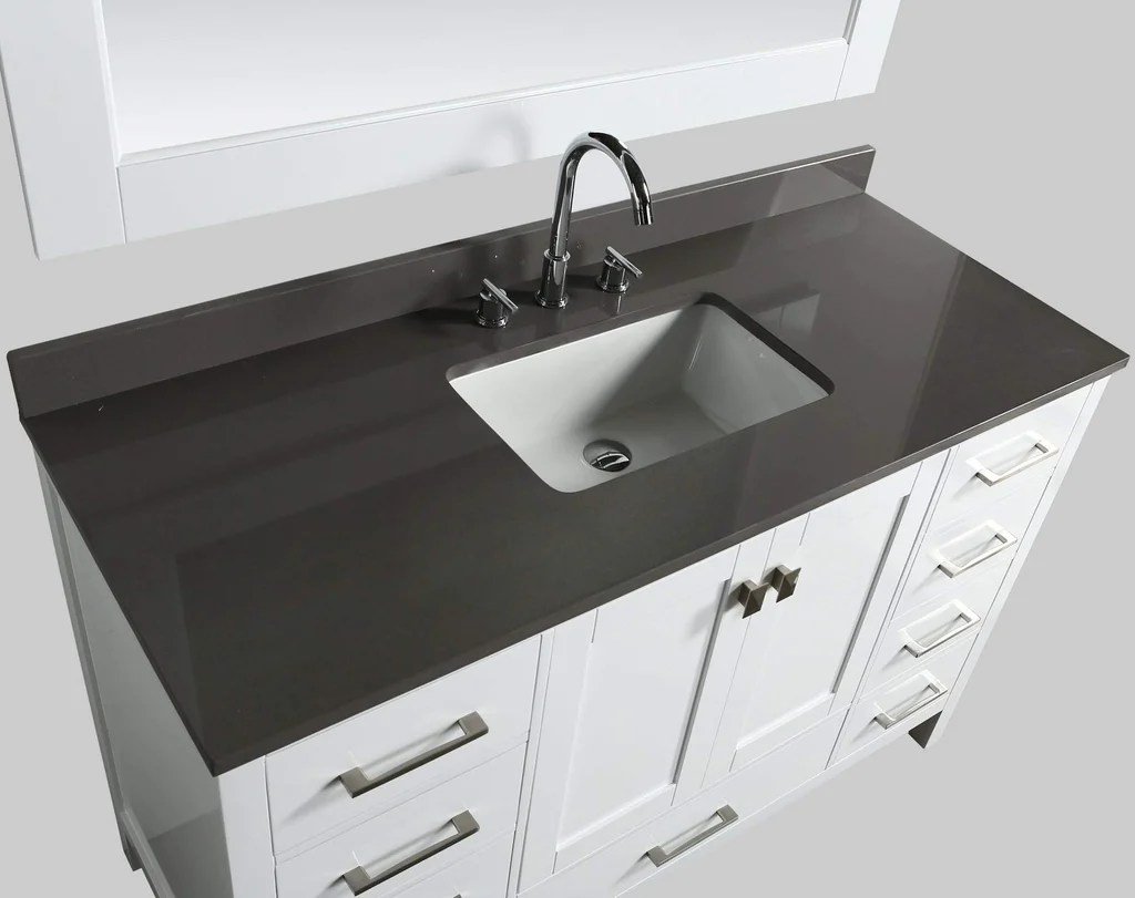 54 Bathroom Vanity Design Element London 54 Inch Single Vanity With Basin And Mirror