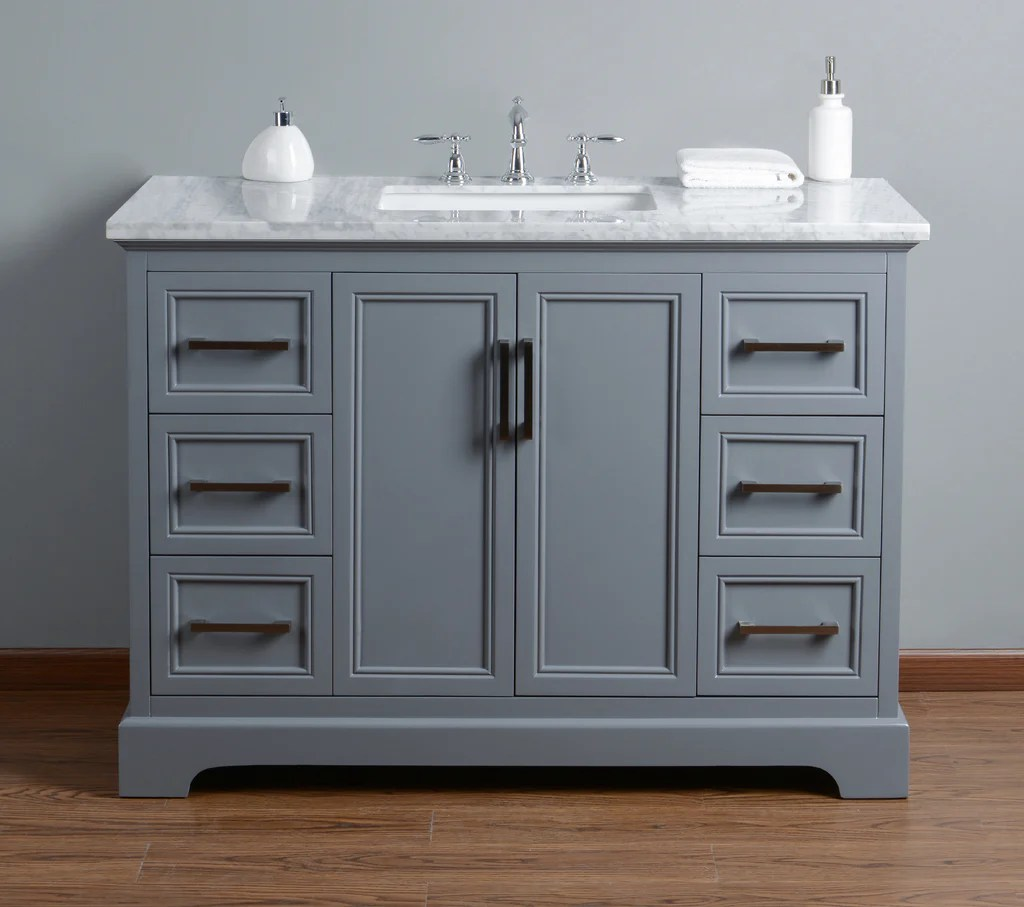 48 Bathroom Vanity Cabinet Stufurhome Ariane 48 Inch Single Vanity Cabinet Bathroom Sink