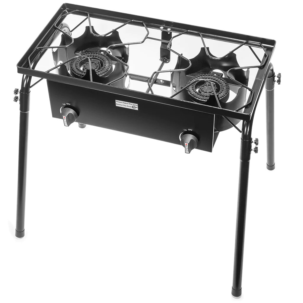 Propane Stove 2 Burner Gas Outdoor Portable Camping Bbq High Pressure Xtremepowerus