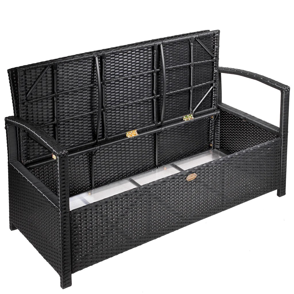 all weather uv outdoor storage bench garden pool deck box patio with cushion