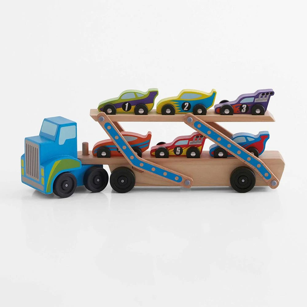Wooden Car Transporter Wooden Toy Cars Great Little