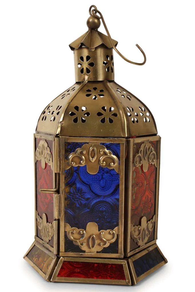Assorted Brass Antique Hexagonal Lantern Lighting Ishka