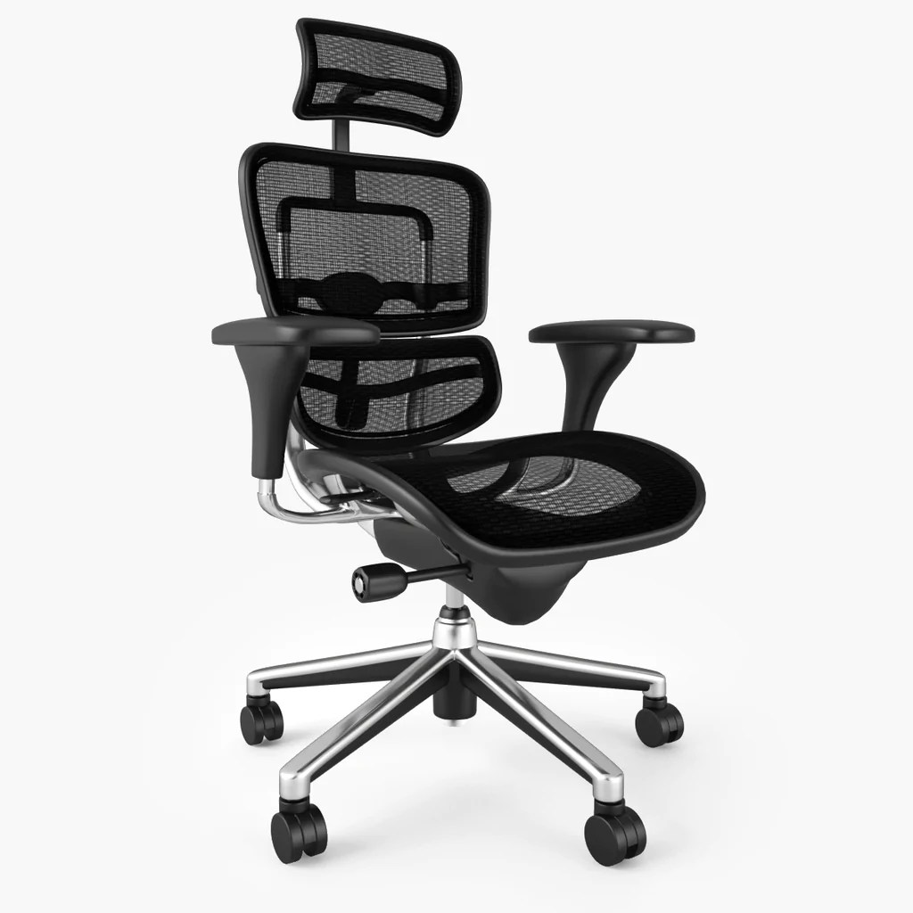 raynor ergohuman chair steel base office 3d model facequad