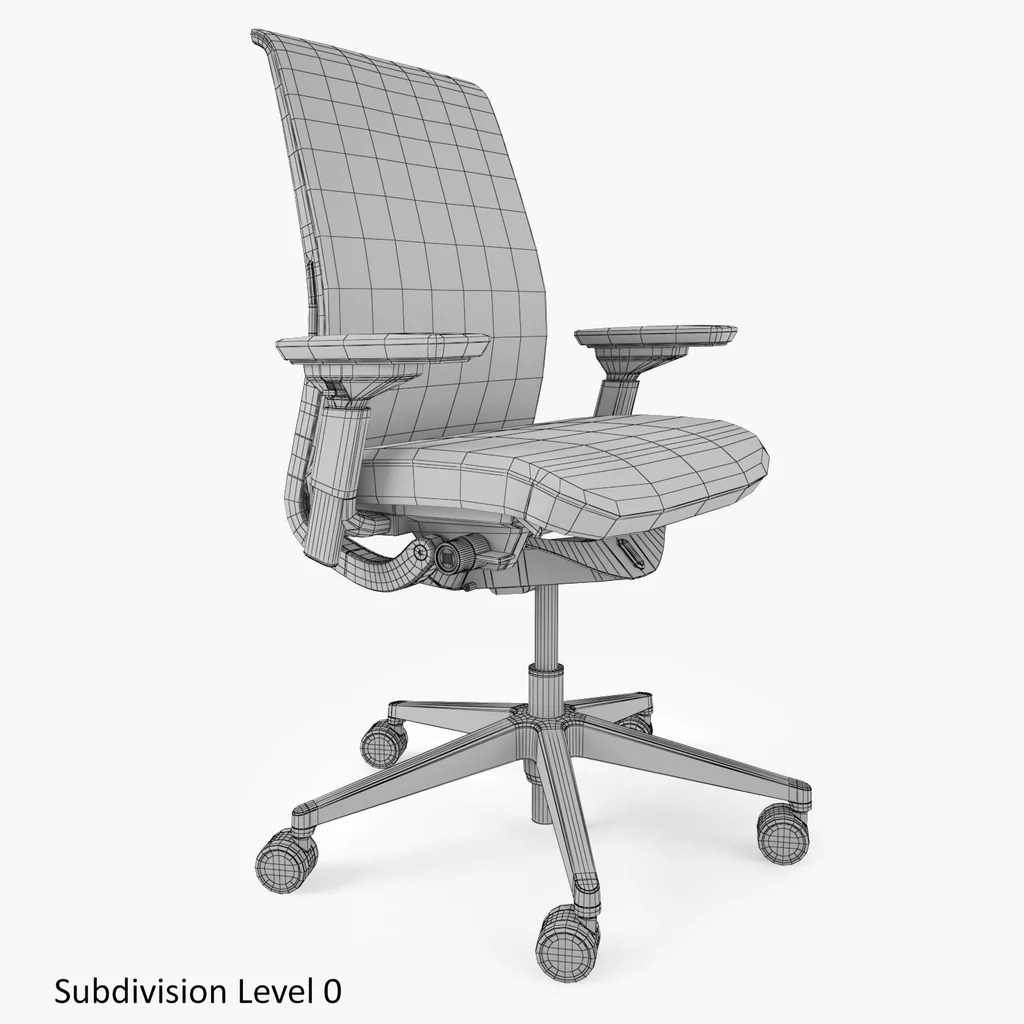 office chair 3d model dining covers ideas steelcase think facequad