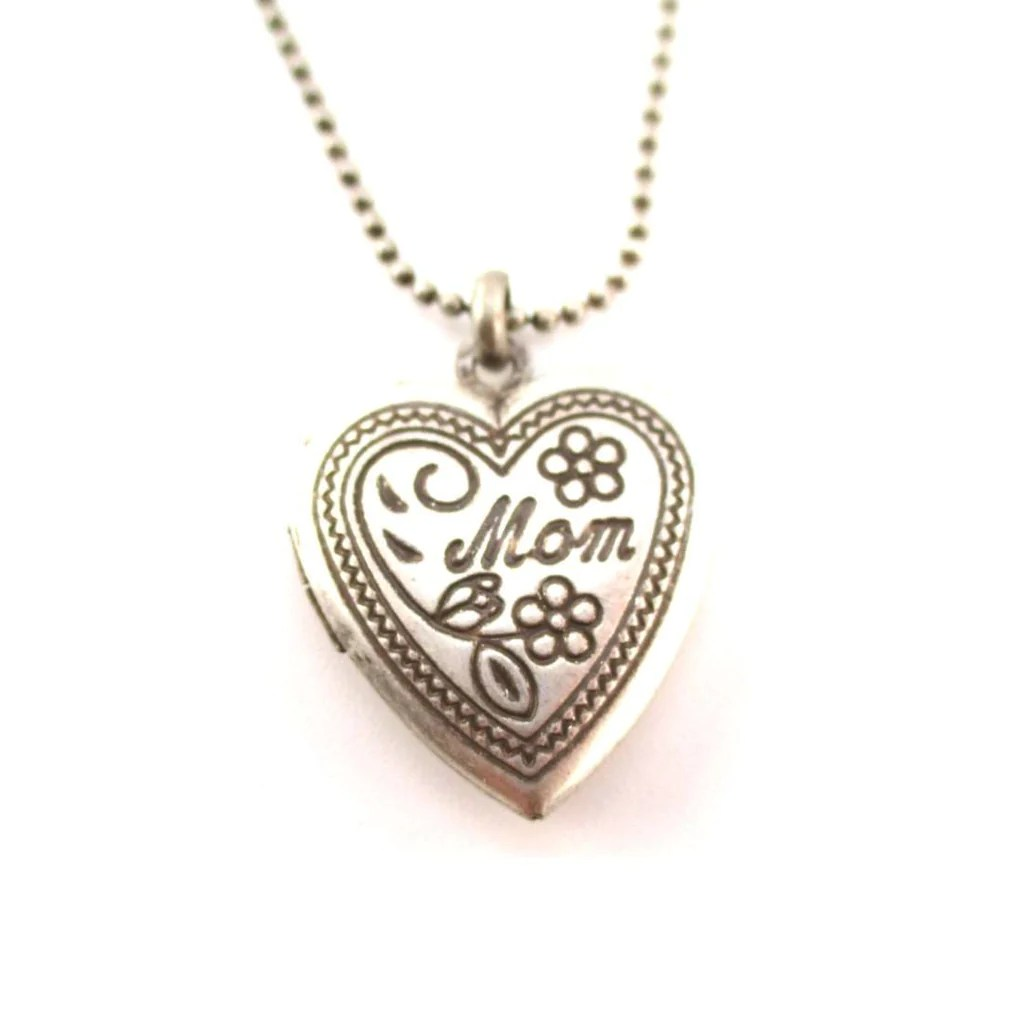 heart shaped engraved mom