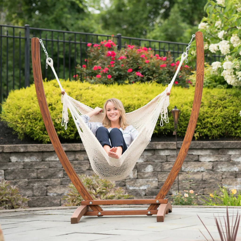 hammock chair and stand church chairs canada set wholestory