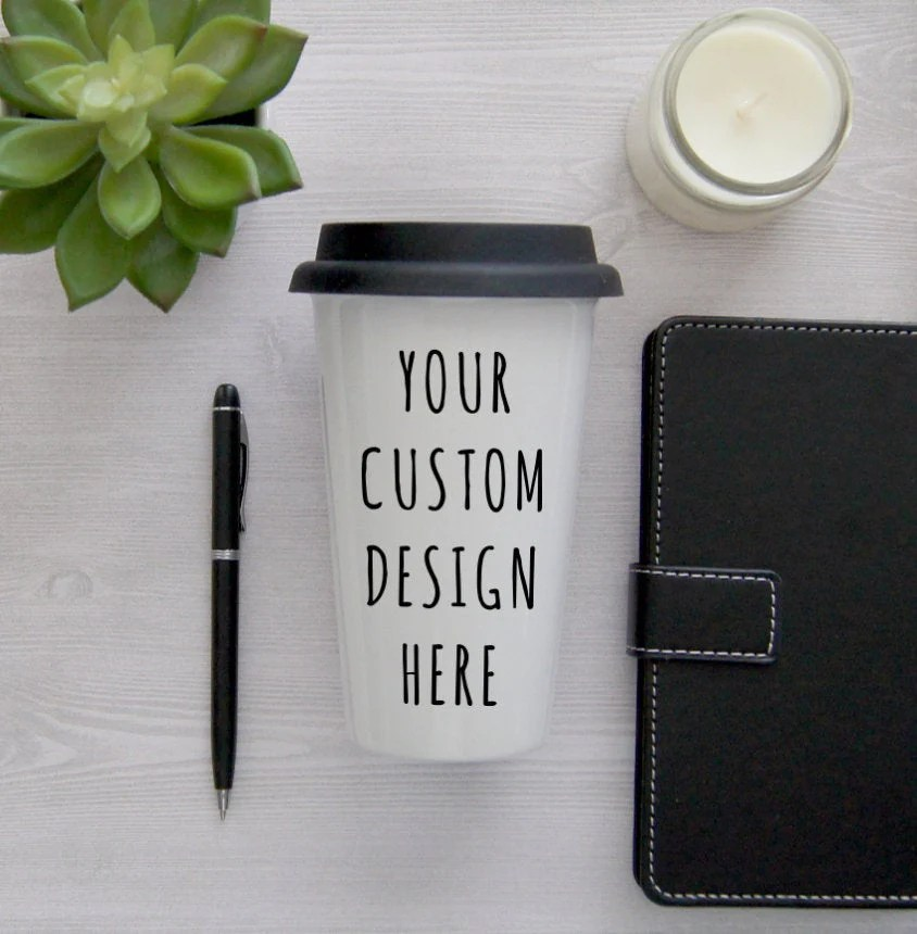 custom travel mug coffee