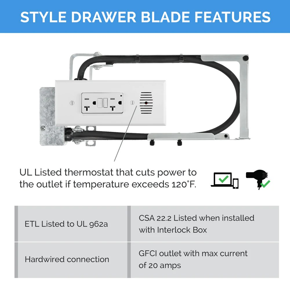 hight resolution of style drawer blade powering series