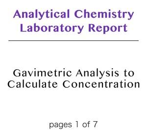 Analytical Chemistry Laboratory Reports – DearWorkbook