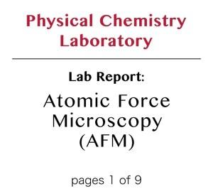Physical Chemistry Laboratory Reports – DearWorkbook