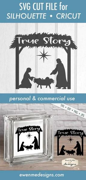 Manger Svg : manger, Story, Manger, Christmas, Designs