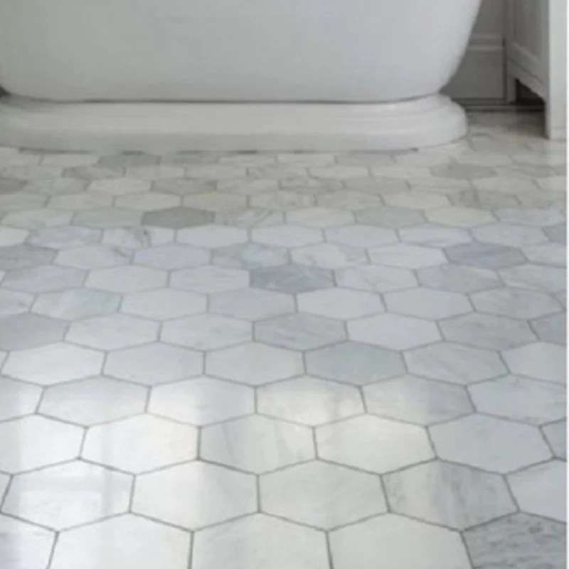 https budgetmarble com products carrara white marble 3 inch hexagon mosaic tile