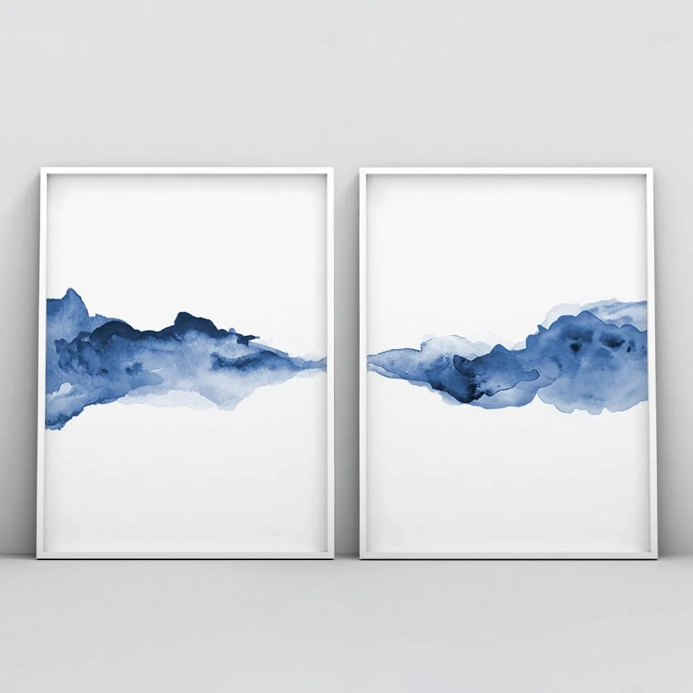abstract blue watercolour 2