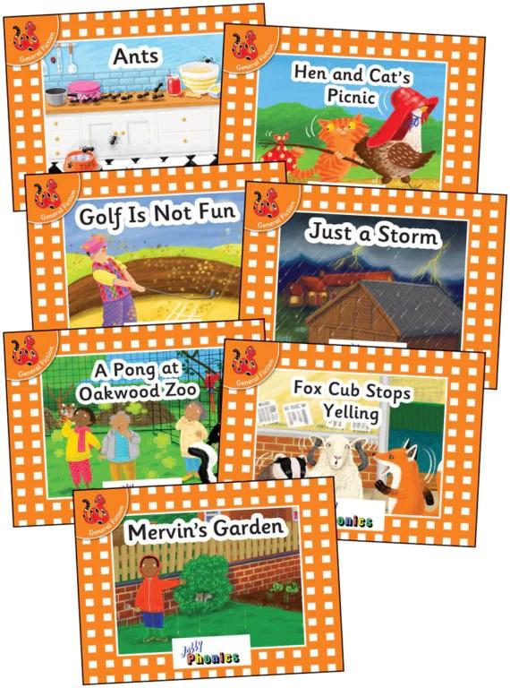 Jolly Phonics Orange Readers. Level 0. Complete Set – JollyWorks Ltd.