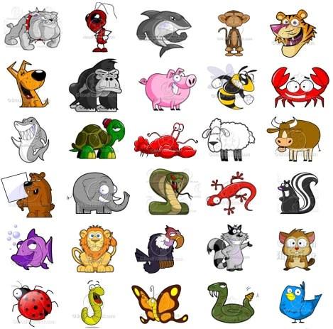 cute cartoon animals clip art