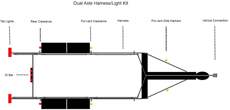 kraken harness dual axle boat trailer kit  [ 1413 x 680 Pixel ]
