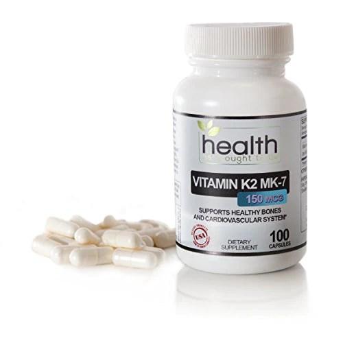 Best Vitamin K2 MK-7 150mcg 100 Capsules – Safest/Most Effective Form – Fix Your Gut