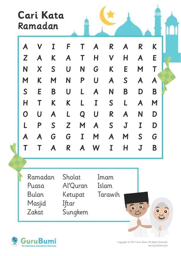 Mencari Kata Seri Ramadhan  Guru Bumi