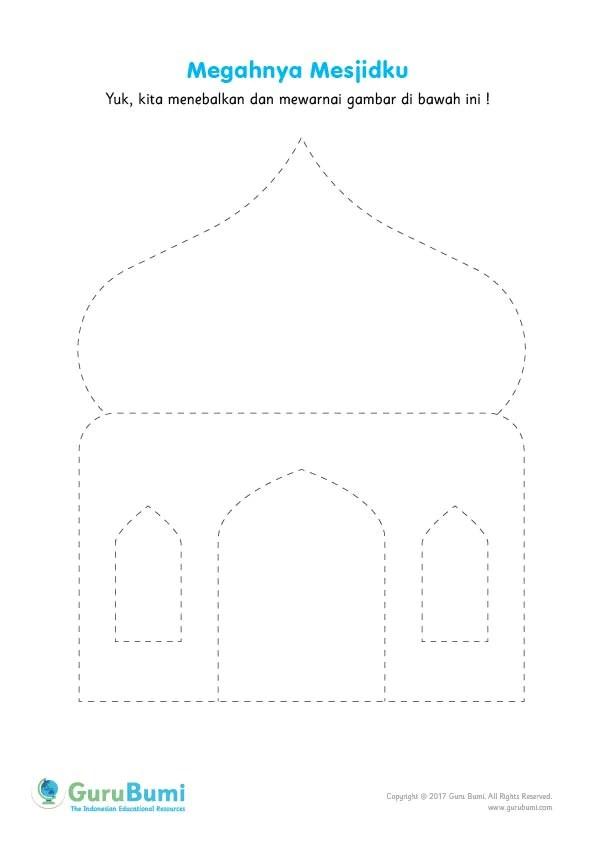 Menebalkan Gambar Masjid  Guru Bumi
