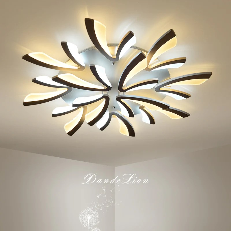 ceiling light fixtures for living room how to arrange a with tv the dandelion series post modern led fixture bedroom kitchen and