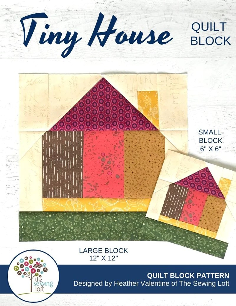 Tiny Houses Quilt Pattern : houses, quilt, pattern, House, Quilt, Block, Pattern, TheSewingLoft