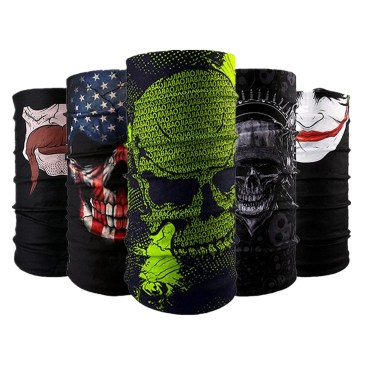 Image result for Wujia 3&5pcs Bandana Headband Face Mask, Outdoor Sport for Fishing Cycling Running