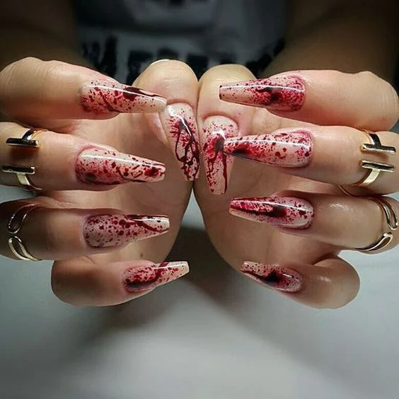 stylish and fun halloween nail