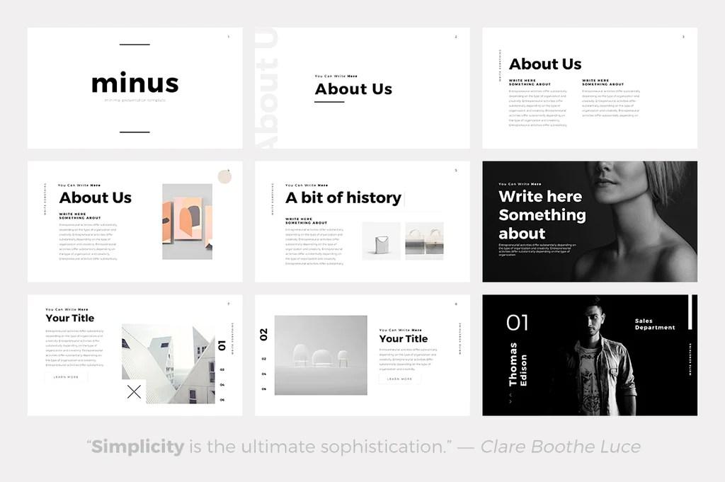 powerpoint templates minimalist