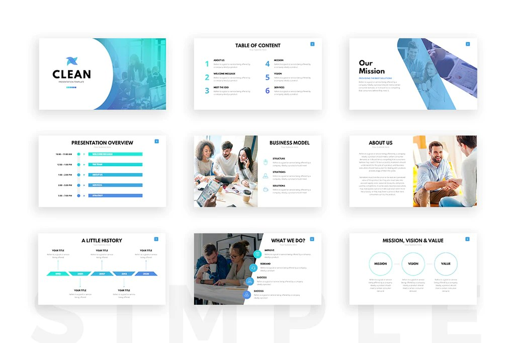 Clean Powerpoint Template  Presentation Templates On