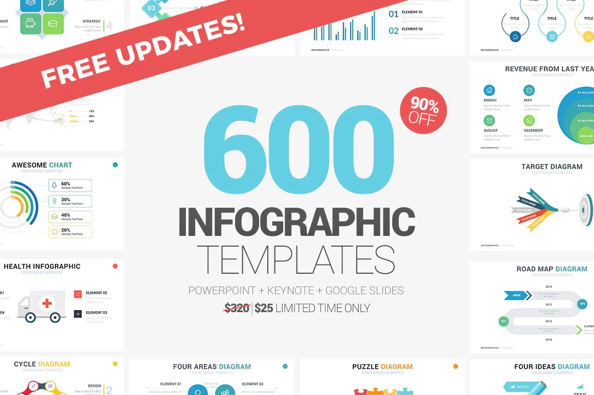 600 infographics powerpoint keynote