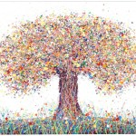 Large Abstract Oak Tree Wall Art Painting With Brown And Yellow Redlark Art