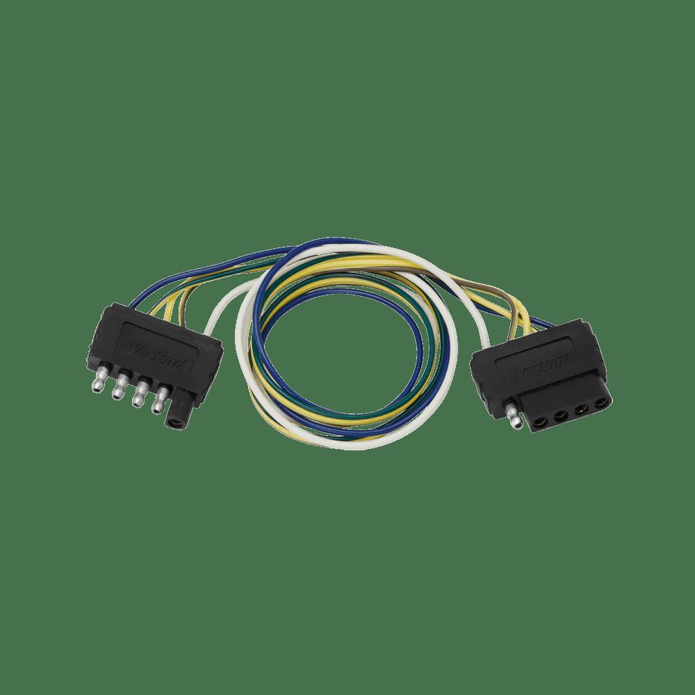 medium resolution of 5 flat plug loop 24 long car trailer end wiring harness