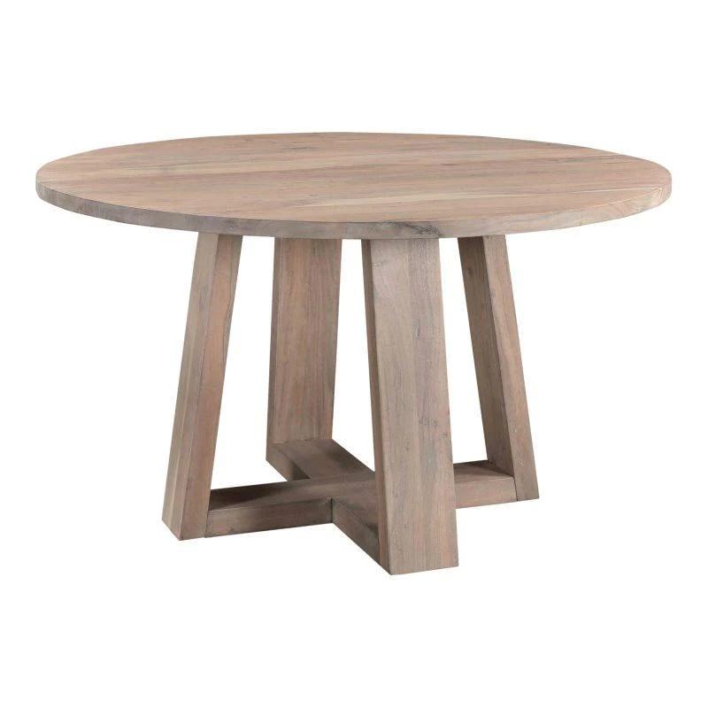 corey acacia round dining table