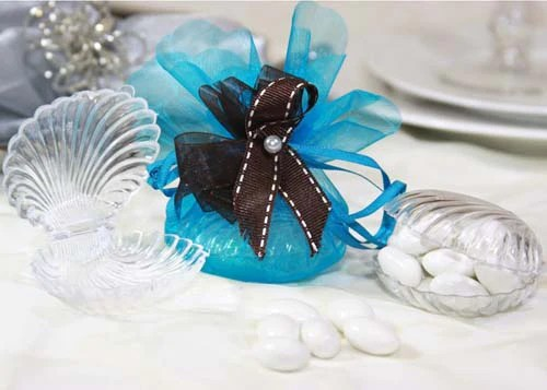 Clear Plastic Clam Shell Favor  12 Pieces  jenlyfavors