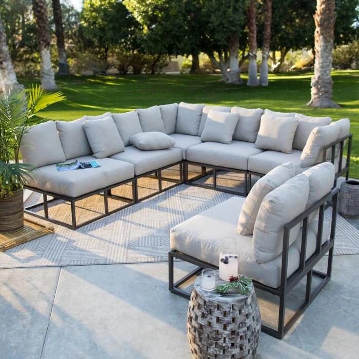 bonaire aluminum outdoor sectional set