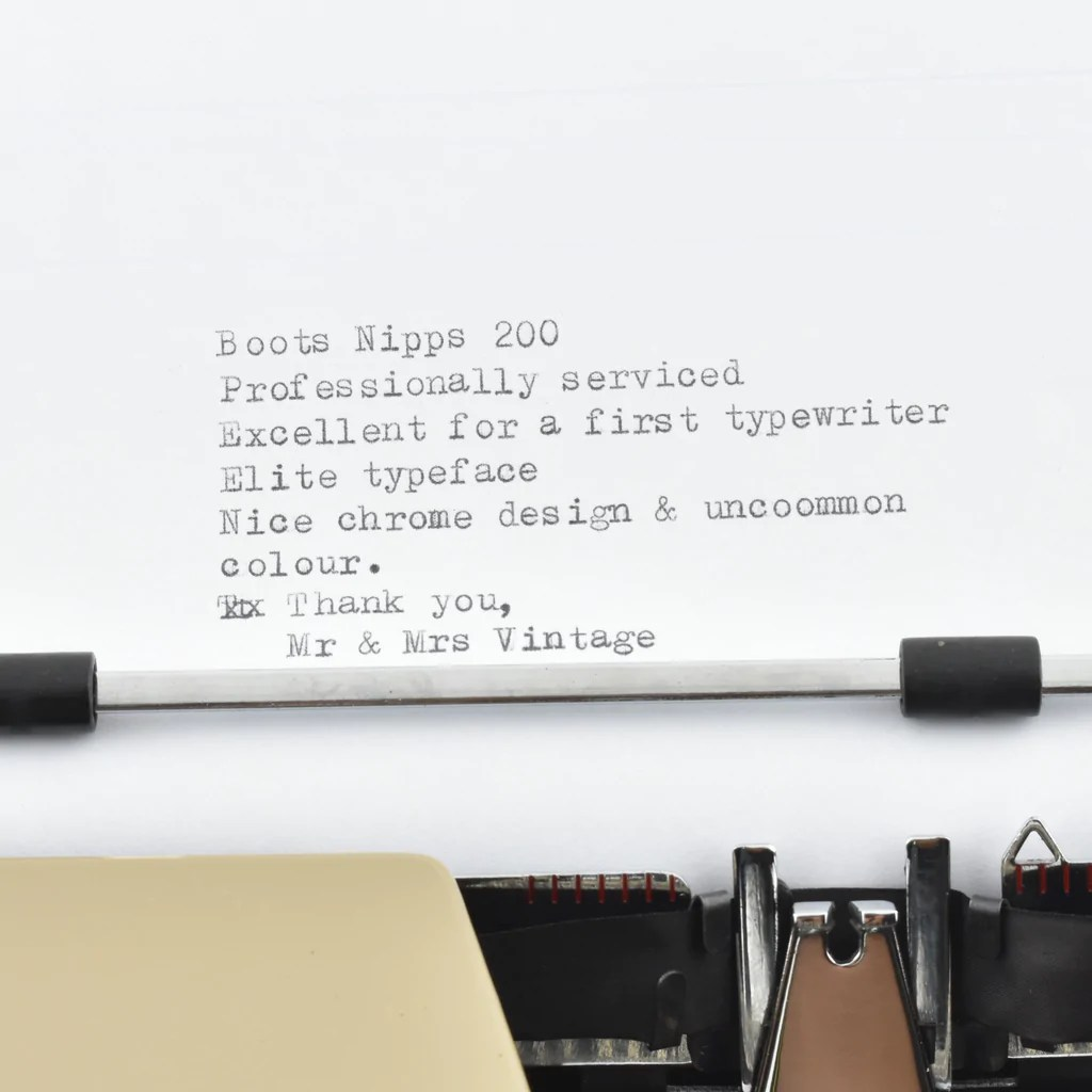 silverette ii typewriter by