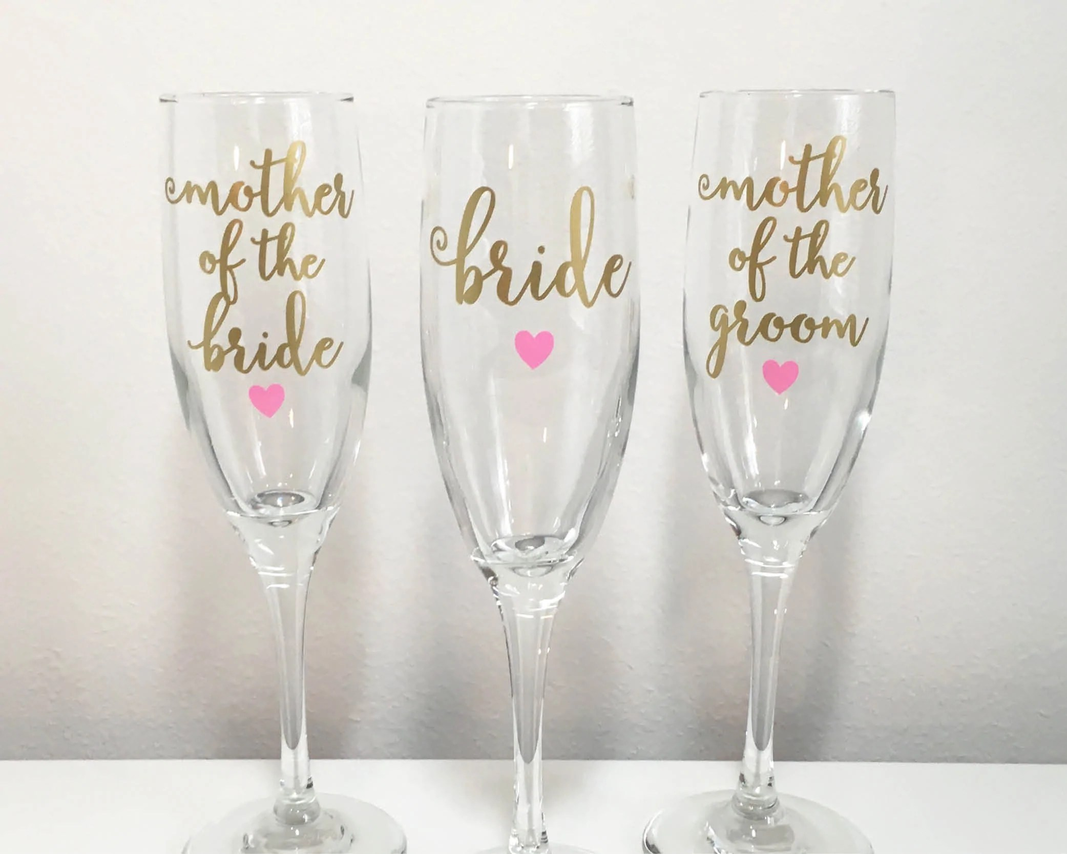 Mother Of The Bride Or Groom Champagne Flute Initially Yours