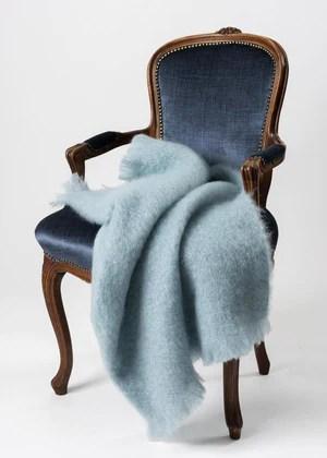 soft mohair chair throws