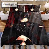 Black Butler Bedding Set with Duvet Cover & Blanket, Ciel ...