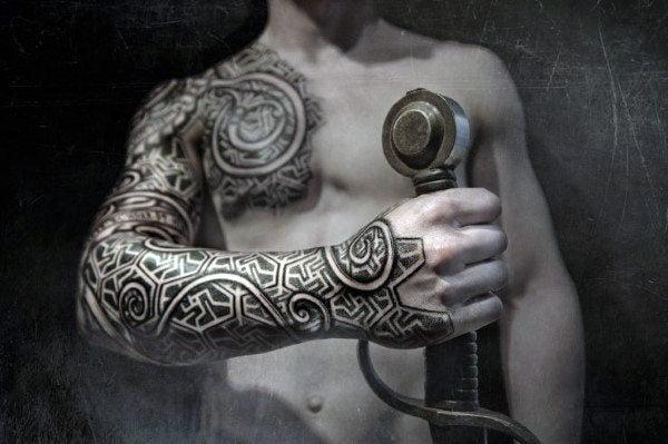 Bref, un symbole trop cool à se tatouer. Menvikings 100 Tatouages Nordiques Pour Hommes Menviking