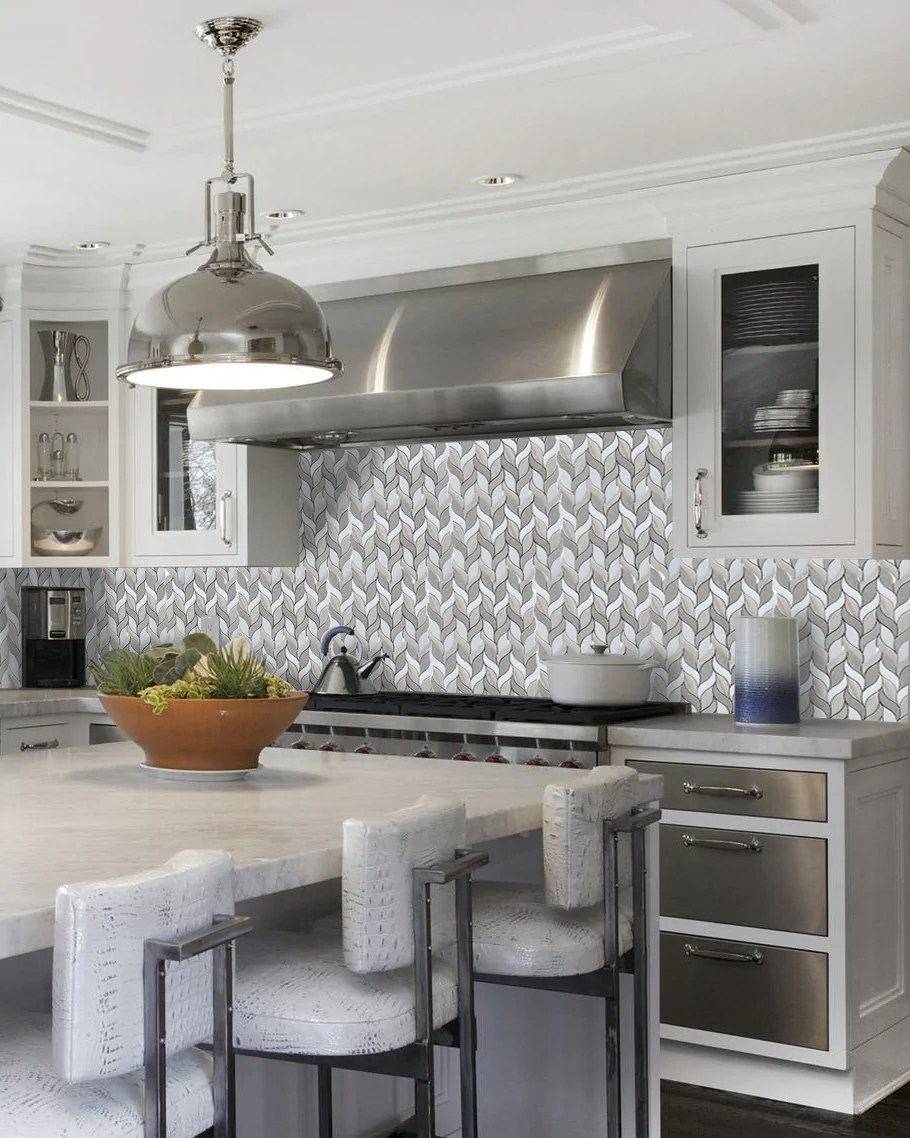 sand valley and thassos octagon marble mosaic tile