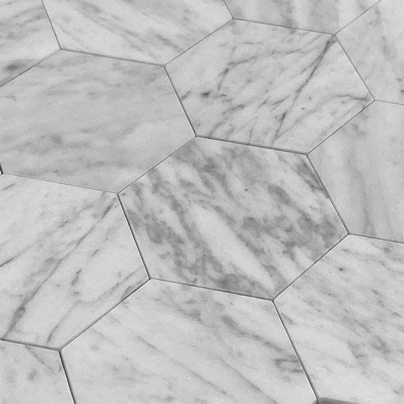 2 5 carrara hexagon peel and stick