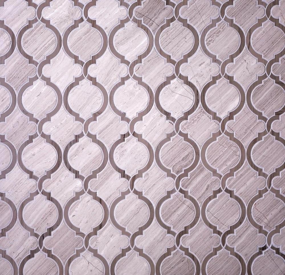 athens grey arabesque mosaic tile
