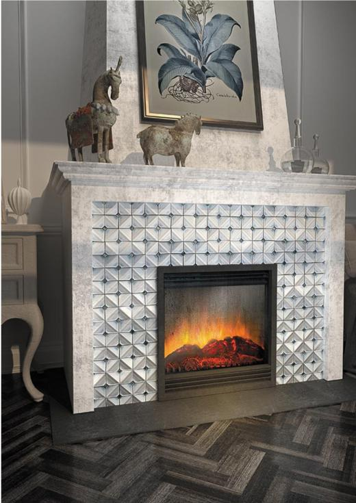 chateau blue square ceramic mosaic tile