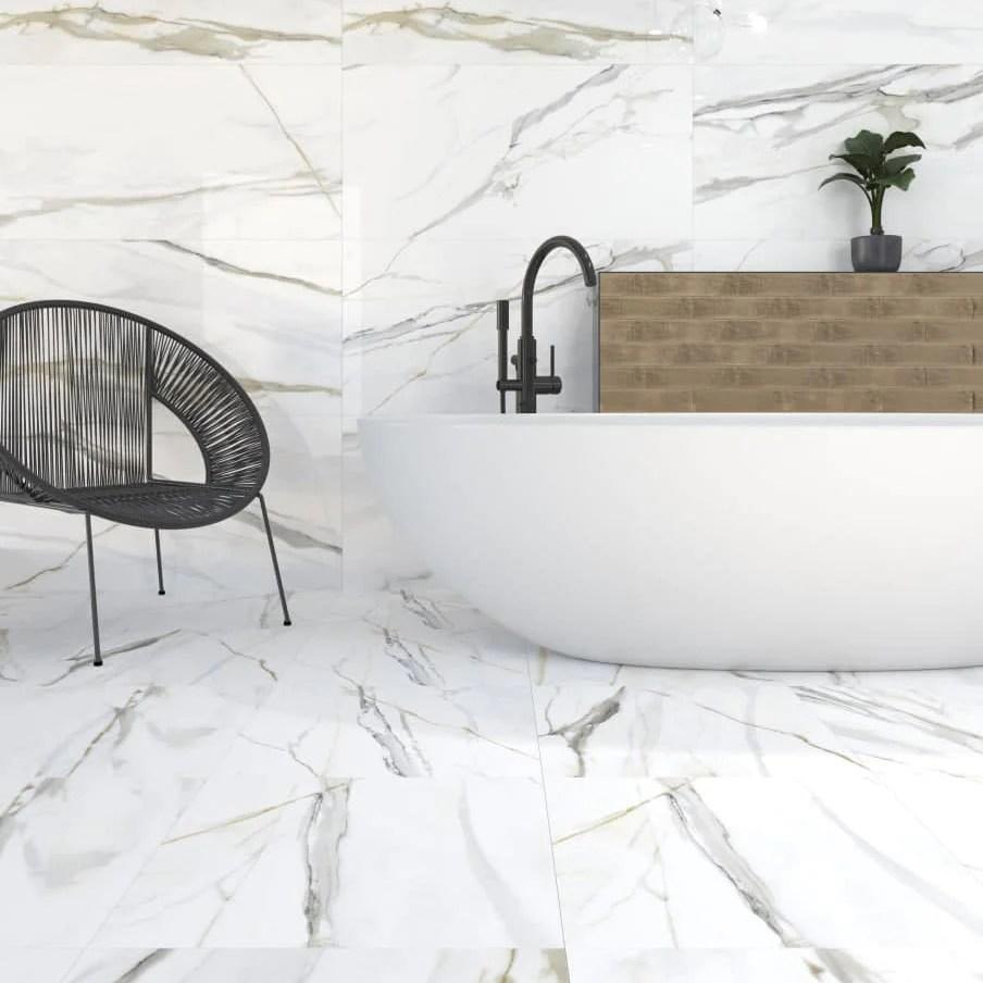 emporio matte calacatta marble porcelain tile 24x48