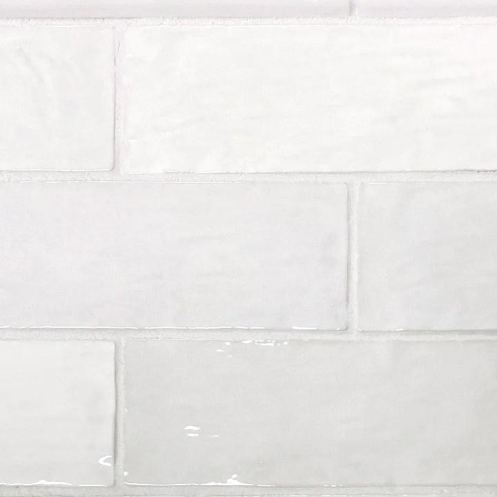 ceramic subway tile backsplash