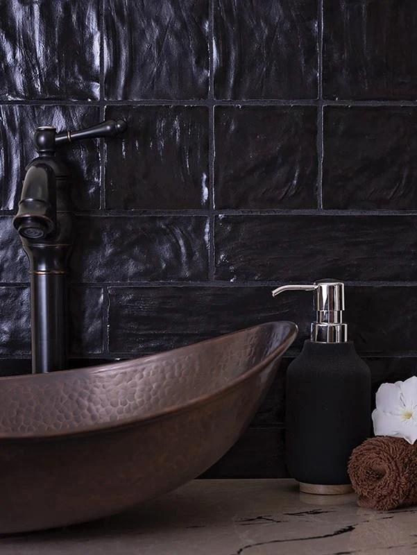 mallorca black ceramic tile 4x4