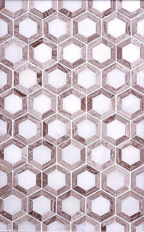 nova hex wooden beige marble wall
